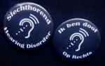Button doof of slechthorend diverse kleuren verkrijgbaar per stuk
