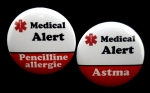 Button Medical Alert per stuk