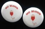 Geen bloed No Blood button