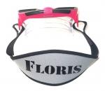 Maskerband neopreen met straps bedrukt met naam