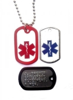 Identiteitsplaatje mini medisch teken