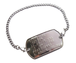 Dogtag armband RVS geponst