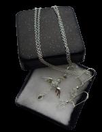 Zilveren sieradenset 925 meisjes wings zirkoon