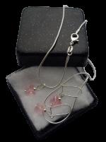 Zilveren sieradenset 925 meisjes Vlinder swarovski kristal