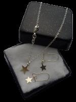 Zilveren sieradenset 925 meisjes ster