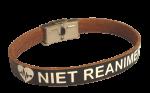 Armband niet reanimeren rundleer Volwassenen op maat gemaakt