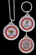 Allergie ketting bijen of wespen allergie 2-zijde