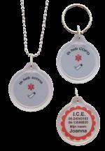 Medische ketting ASTMA of COPD sos achterzijde