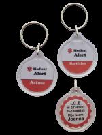 Medische sleutelhanger medical alert eigen tekst 2-zijde