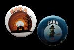 Buttons met naam Halloween per stuk 5 cm diverse designs
