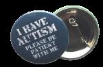 """Buttons met naam model """"AUTISME stoer"""", 4 stuks 3,8cm"""
