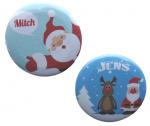 Buttons met naam model Kerst per stuk