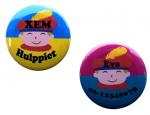 Buttons met naam model pietje per stuk