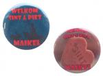 Buttons met naam model Sint of Piet per stuk verschillende designs