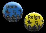 """Button met naam model """"Op het dak diverse kleuren"""