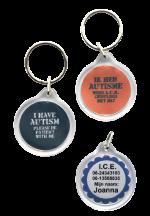 Medische sleutelhanger autisme stoer 2-zijde