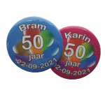 button abraham & Sarah 7,5 cm per stuk