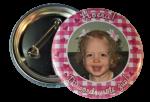 Meisjes foto Buttons per stuk 5cm