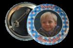 Jongens foto Buttons per stuk 5 cm