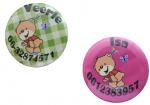 """Buttons met naam model """"beer"""", per stuk 5cm"""