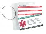 Medische sleutelhanger kaartje in waterdicht hoesje