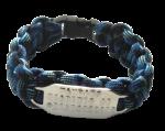Paracord armband met RVS tag 3 regels