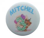 Buttons verjaardag beer met naam, 1 stuk 5cm