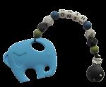 Bijtkoord jongens siliconen kralen olifant
