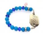 Armband SOS voor kinderen, tieners en volwassenen edelsteen/kristal
