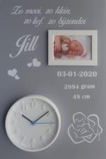 Geboortebord family 40 x 60 ronde klok