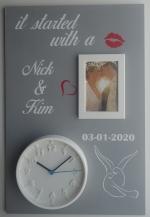 Huwelijksbord tortelduifjes 40 x 60