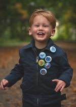 Button met naam halloween diverse designs per stuk in drie maten