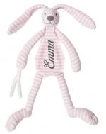 Happy Horse Pink Rabbit Reece knuffeldoekje met naam