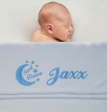 Babydeken met naam fleece soft touch diverse afbeeldingen