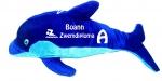 Dolfijn knuffel bedrukt met naam en zwemdiploma A, B of C 50cm
