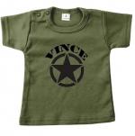 Baby t-shirt bedrukt army ster