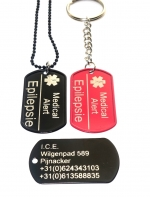 Dogtag medical alert 1 of 2-zijde gravure