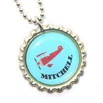 """Ketting met naam model: """"Vliegtuig/helikopter"""""""