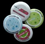 Button Covid-19 gevaccineerd 5cm 1 stuk  AANBIEDING