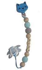Speenkoord gehaakte kralen diverse clips
