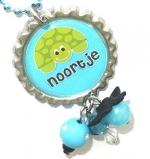"""Ketting met naam model: """"schildpadjes"""""""