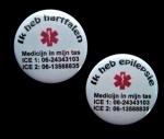Medische button eigen tekst