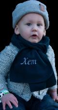 Kindersjaal fleece geborduurd met naam