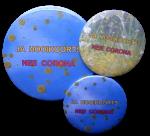 Button Hooikoorts ja, Corona nee 5cm of 7,5 cm 1 stuk