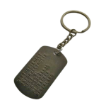 Dogtag brons met sleutelhanger