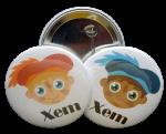 Buttons met naam model roetveegpietje per stuk 5cm
