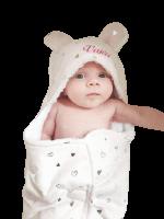 Babywrap omslagdoek/wikkeldoek bedrukt met naam