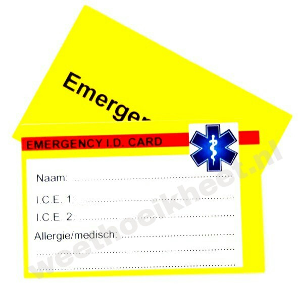 Sos wallet medical ID Card