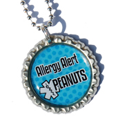 "SOS ketting model: ""allergie alarm""  evt.koker"