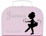 Geboortekoffertje balerina gepersonaliseerd diverse kleuren
